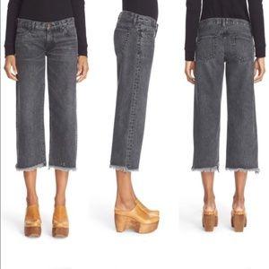 ❌SOLD❌ [Simon Miller] Wide Leg Fray Hem Crop Jeans
